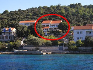 Two bedroom apartment Tri Zala, Korcula (A-9317-c)