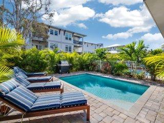 Casa Coquina – 4BR/3BA Private Home, Heated Pool, Private Cabana, Walk to Beach