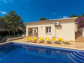 Villa Estefania en Benissa,Alicante para 6 huespedes