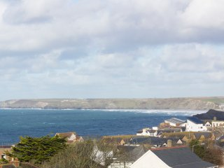View from house across Newquay Bay