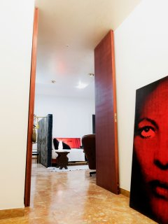 The huge door of the biggest room
