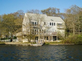 Lakeside 'Point of View' 3BR in Scenic Mashpee Setting w/ Wraparound Deck