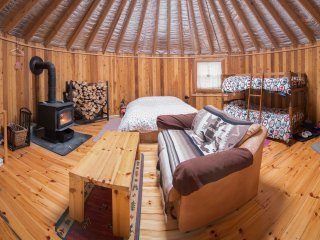 The Cedar Yurt at Cabot Shores