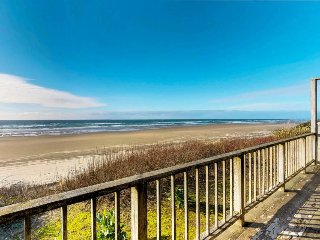 Walk to the beach from this comfortable, oceanfront, dog-friendly home!