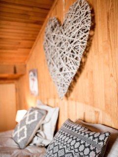 La chambre 'Tradition', avec son balcon vue Mont-Blanc.