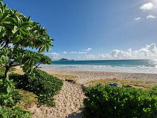 1 House off Kailua Beach, Path 10 Steps from Front Door,Complete Remodel 2017