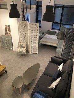 Vista del salón a la habitación 1