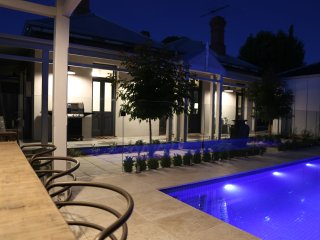 Private courtyard showing terrace, pool and pool hut