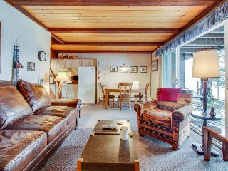 Lakefront condo w/beautiful views, shared pool & hot tub, close to ski - dogs ok