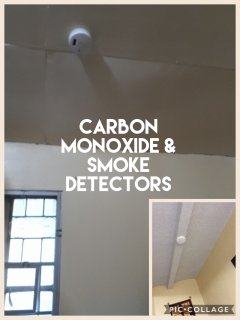 Carbon monoxide and smoke detectors in both first and second floor.
