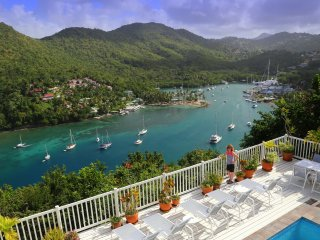WOW... WHAT A VIEW!!! The Villa On The Bay Overlooking Beautiful Marigot Bay