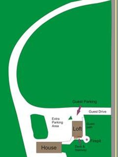 This is an illustration of the property lay out. We have extra parking for guest with boats or trail