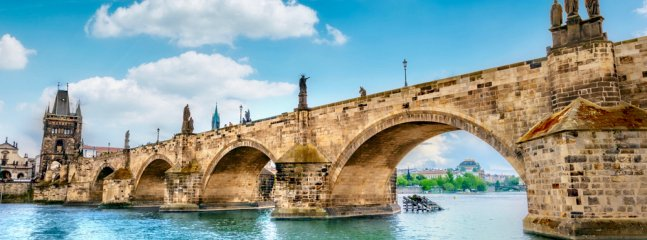 LOCATION! Charles bridge just few minutes walk from our Apartment. Both bedrooms facing river