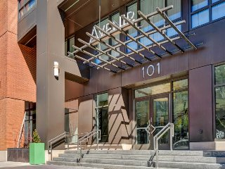 Modern, centrally located condo for a cozy getaway with views of downtown!
