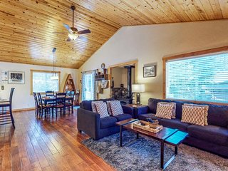 Spacious escape features a hot tub and a prime alpine location near skiing, golf