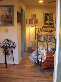 Casita Chiquita is decorated with art Innkeeper Sandra shares with you from her world travels.