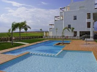 Condado de Alhama Holiday Penthouse with shared pool, overlooking golf course