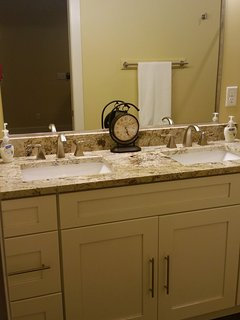 Granite countertop with double sinks