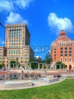 Beautiful architecture abounds in Downtown Asheville as shown here at City-County Plaza