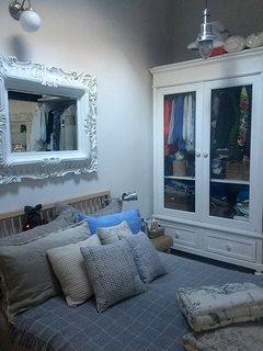 romantic bed room - wardrobe area