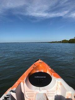 Feel like a paddle! Enjoy the complimentary kayaks
