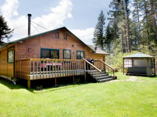 Creekside Cabin w/private hot tub, dog friendly near Mt Rainier