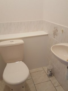 Downstairs Cloakroom with Toilet and Wash Hand Basin - one of 2