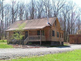 WV Luxury Log Cabin Sleeps 12 With Private Hot Tub and Game Room, Dog Friendly