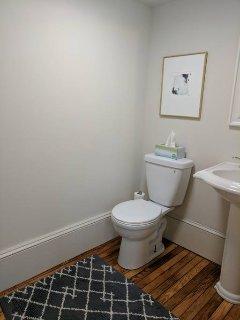 1/2 bathroom on lower level.