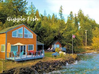 Two Free Nights! Beachfront Cabin+Guest Boathouse (fully-fenced) +2 Kayaks