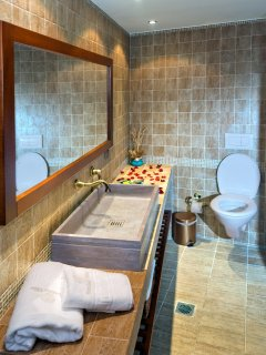 All bathrooms offer luxury amenities
