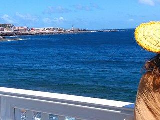 Apartamento luminoso y comodo a orilla del mar en la Playa de Salinetas .