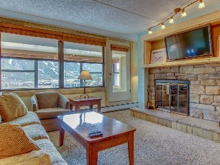 Newly-renovated condo near the slopes with a shared hot tub and pool