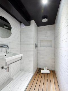 Chic and contemporary shower room