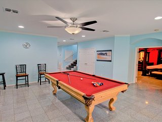 Wow! a game room with billiard table. Your dream can come true while you vacation at this villa