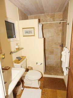Both bedrooms have similar ensuite bathrooms