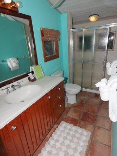 The upper bedroom bathroom