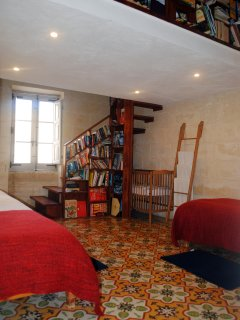 The Library, an ideal family room, brimming with books for all ages and tastes.