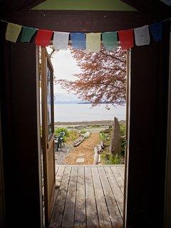 Beach Cottage: oceanview from front door