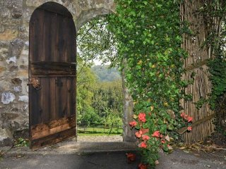 Private entrance to cottage and garden