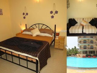 01) Private Ground Floor 1 Bed Apart Close to the Sea, Baga 4* Nasri Resort