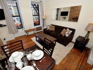 Stay just 1 block from Central Park! Gorgeous, urban-chic Upper West Side 1 Bed.