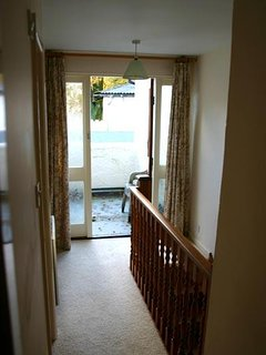 Upstairs Landing leading onto small terrace