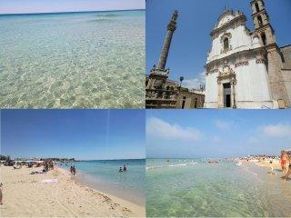 Trilocale 80 m2, 50 metri spiaggia di Lido Marini (Lecce)