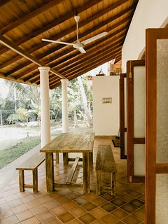 Outdoor Dining Table where you can see Monkeys.