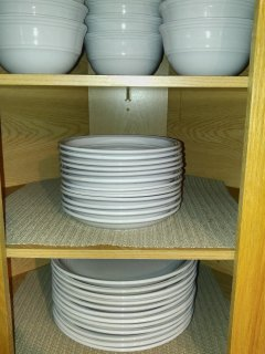 Bowls, small plates, and large plates