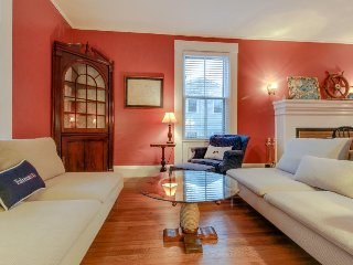Gorgeous 1861 dog-friendly home w/patio, a/c; by Main Street and bike trails.