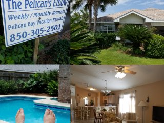 Beautiful Pelican's Elbow, 4BR, 2BA, Large Private Pool, Pets Welcome