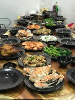 BBQ dinner arrange by villa.