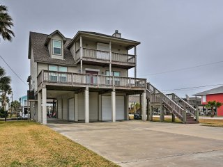 NEW! 4BR Galveston Home on Canal w/Private Dock!